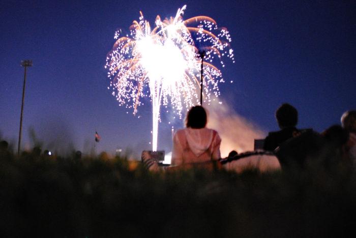 2. Fireworks at the Eugene Emeralds Stadium
