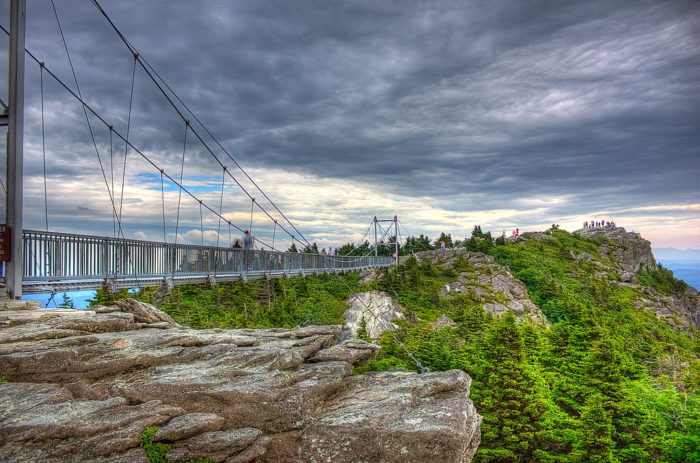 3. A mile high swinging bridge that allows you to walk through the clouds? Yes, North Carolina has that at Grandfather Mountain.