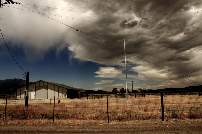 5. This lovely old barn in Gardnerville is sitting alone while rain clouds  slowly make their appearance.