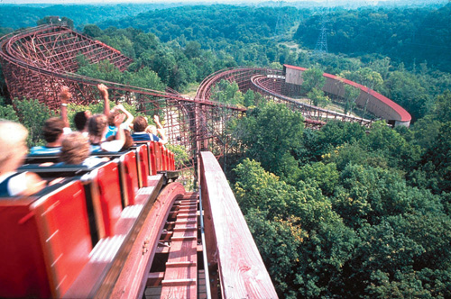 12. ...or you keep it classic and ride The Beast at Kings Island.