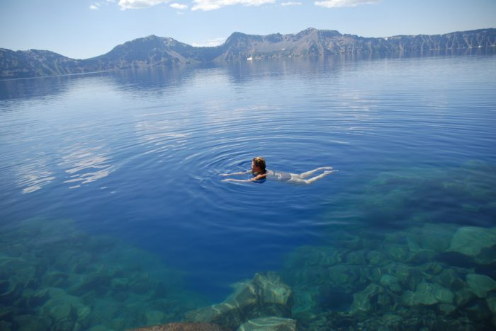 7. Swim in the spectacular Crater Lake.