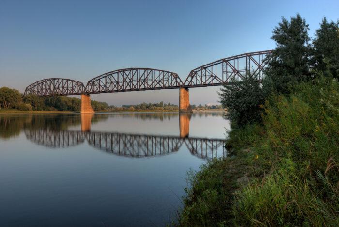 1. The Northern Pacific Railroad Bridge in Bismarck, the first bridge to cross the Missouri River