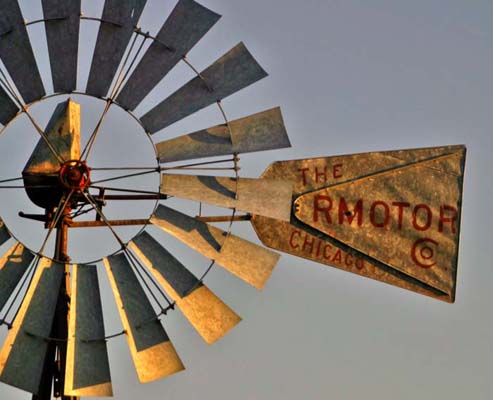 3. A lovely closeup of this windmill in western Nebraska.