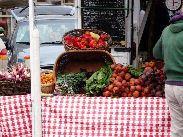 4. Farmers markets
