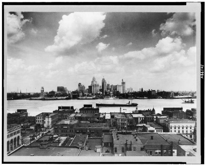 1. The skyline in Detroit, Michigan.