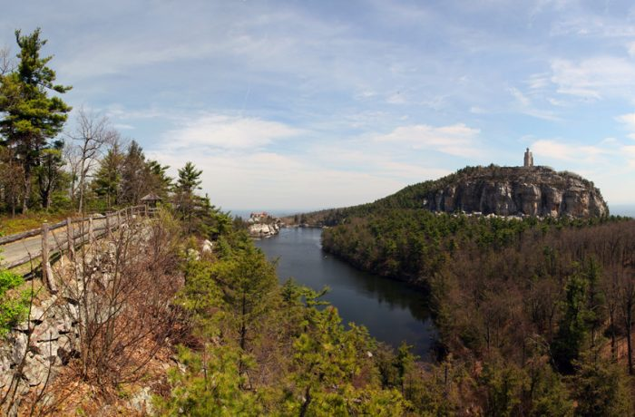 Accessible from the famed Mohonk Mountain House, the Sky Top Tower is a jaw-dropping landmark.