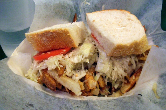 4. Do you really put fries on your sandwiches?