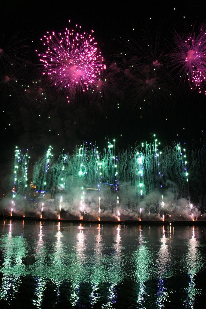 Coney Island Fireworks Rain