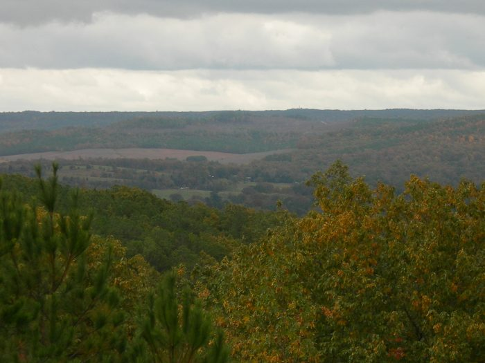 2. Freedom Hills Overlook, as seen here, is located along the Natchez Trace Parkway at mile marker #317.