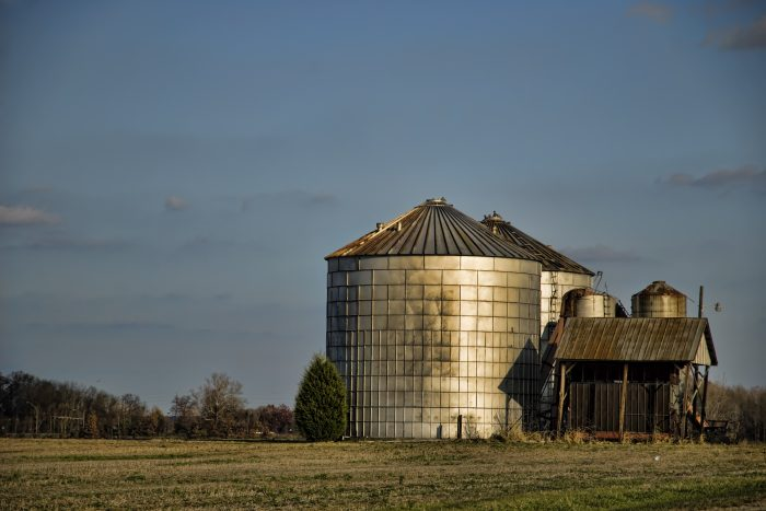 10. These unique silos were photographed in Centreville.