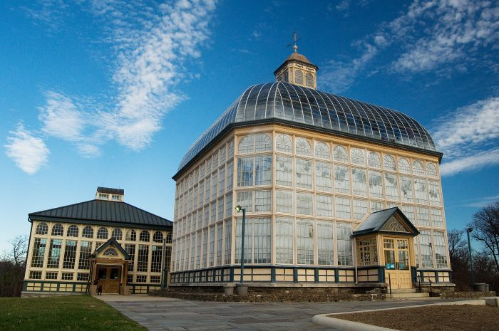 It has developed from the original structure to include several more greenhouses and surrounding gardens.