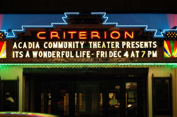 8. Prefer to keep your love indoors? Enjoy a live show or movie at the Criterion in Bar Harbor.