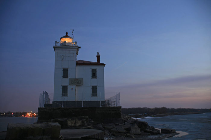 Fairport Harbor West Breakwater Lighthouse at sunset is a romantic sight to behold. Bring your camera and photograph it after a relaxing day on the beach.