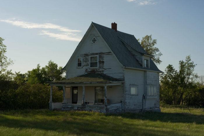 1. This rotting house near Hartland might have something peeking through the windows...