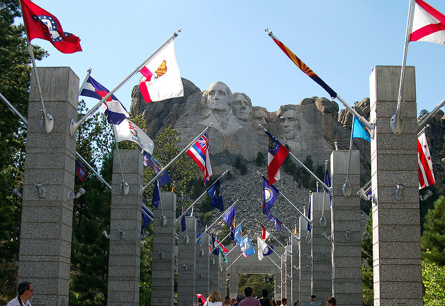 4. We're the Mount Rushmore state! It doesn't get more patriotic than four presidents' heads carved into a mountain.
