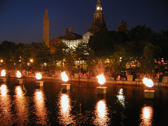 12. Check out Providence WaterFire and see the river ablaze with eclectic music and other entertainment.