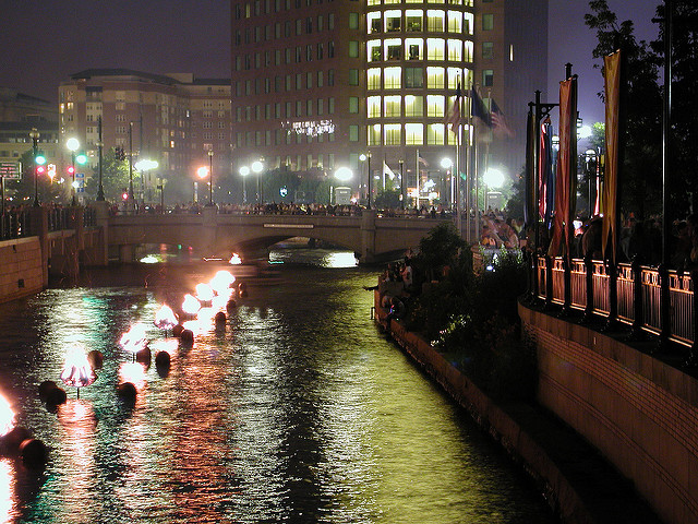 11. Attend Providence WaterFire at night and take in the awesomeness of the city at night and the river ablaze.