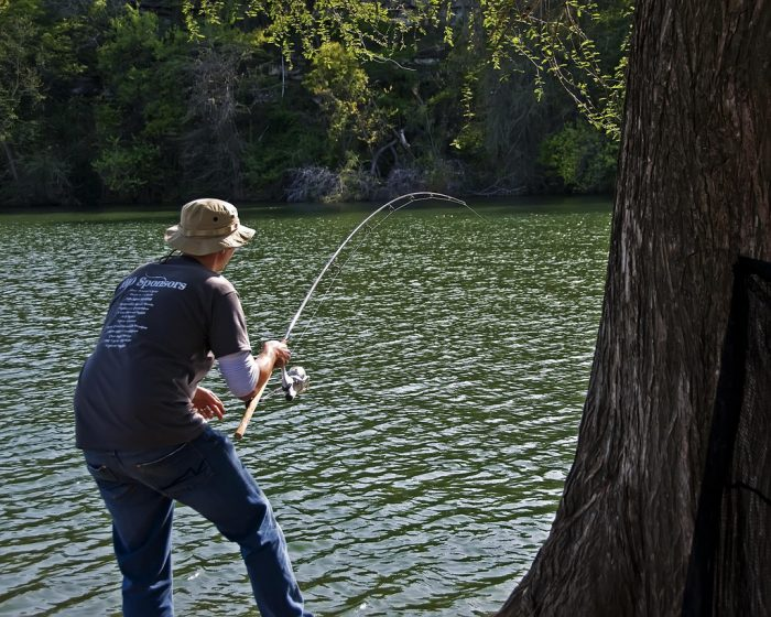 2. Go catch and release fishing at Lady Bird Lake.