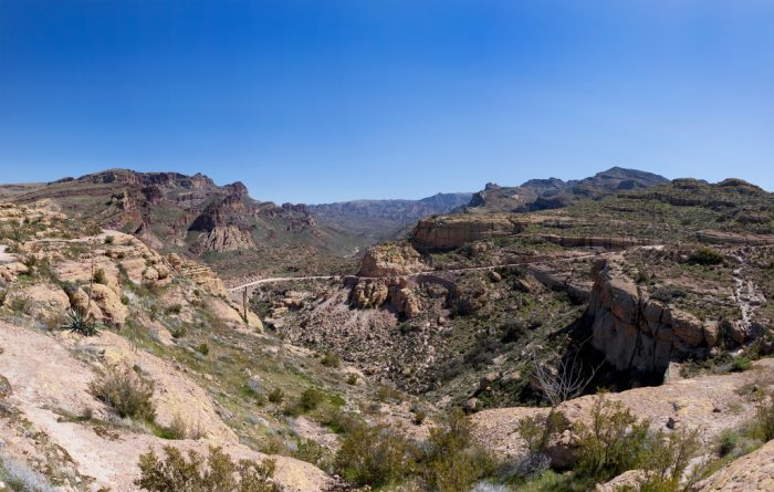 1. Let's start this list with the beautiful but risky drive along Apache Trail.