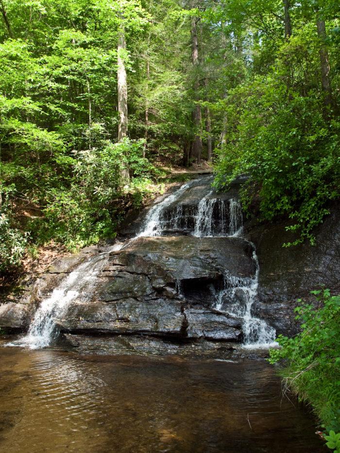 3. Wildcat Wayside Falls on the Cherokee Foothills Scenic Highway (SC-11).