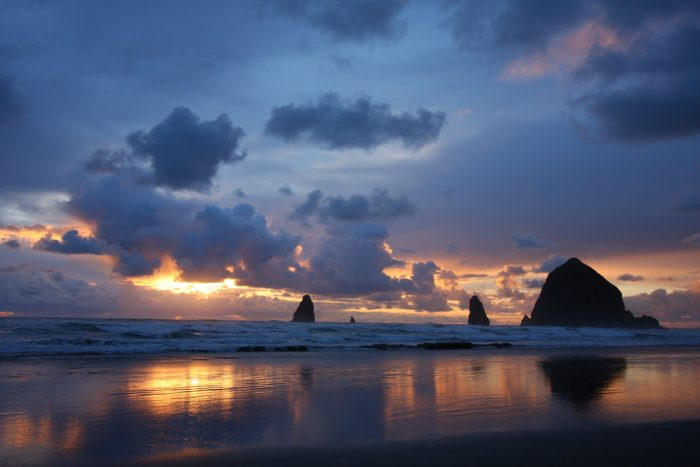 Cannon Beach is home to the iconic Haystack Rock, and is breathtakingly beautiful.