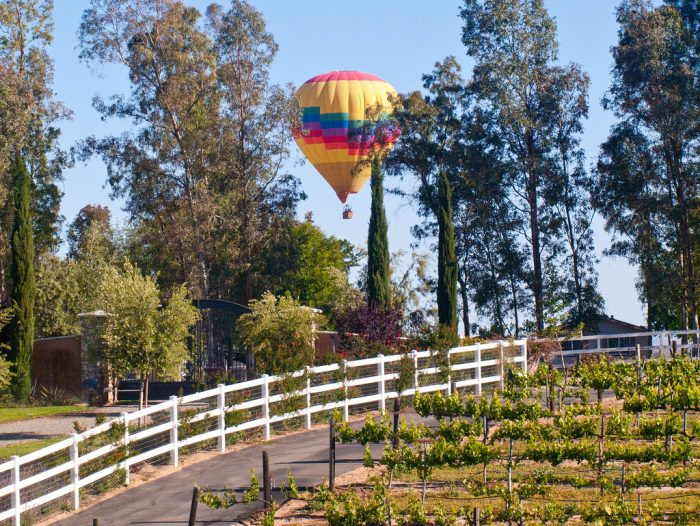10. A morning hot air balloon ride over beautiful wine country in Temecula is pure romance!