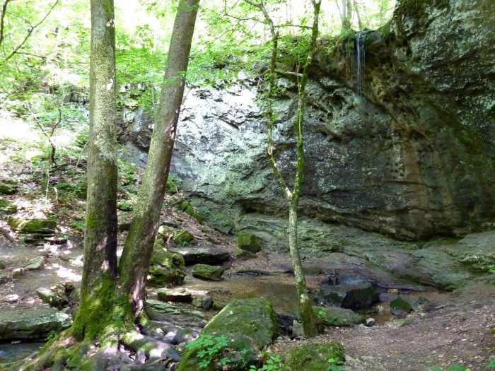 If you go during a period of heavy rain, you'll find numerous waterfalls along the way.