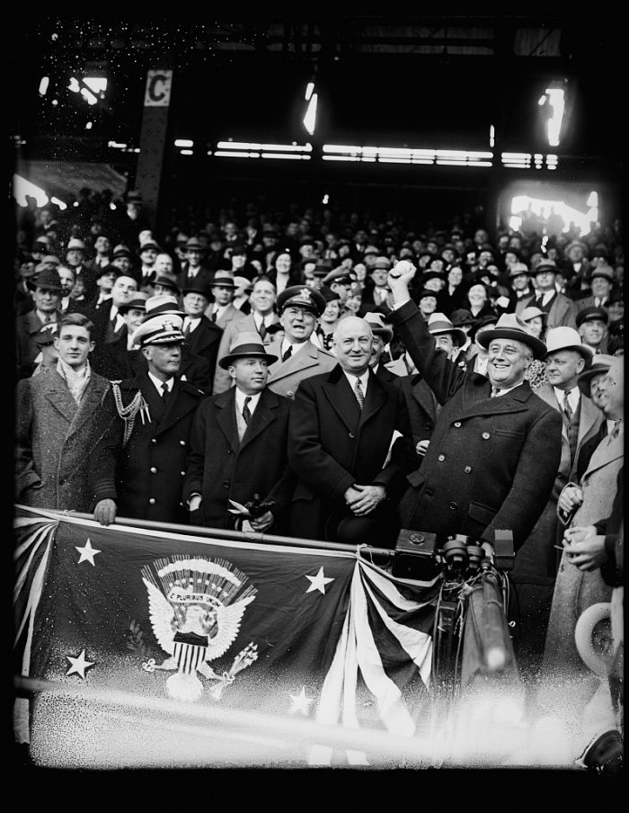 5. President Roosevelt opening a baseball game in Washington D.C.