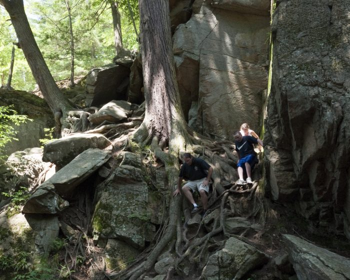 10. The Chasm Loop trail in Purgatory Chasm State Park will lead you past rock formations like Devil's Coffin, Fat Man's Misery, Devil's Corncrib, Devil's Pulpit and Lover's Leap. The trail is only 0.5 miles.