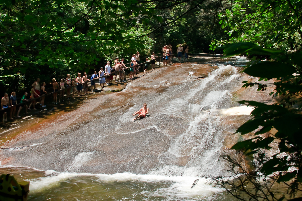The Amazing Natural Water Slide In North Carolina