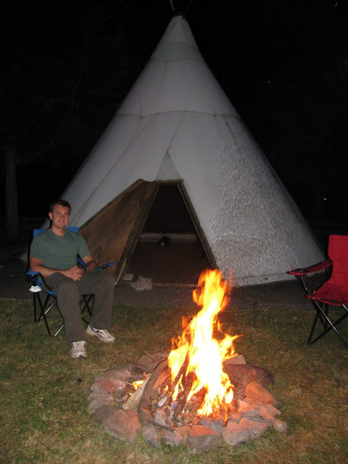 12. Reflect on your day by the campfire, then fall asleep under the stars