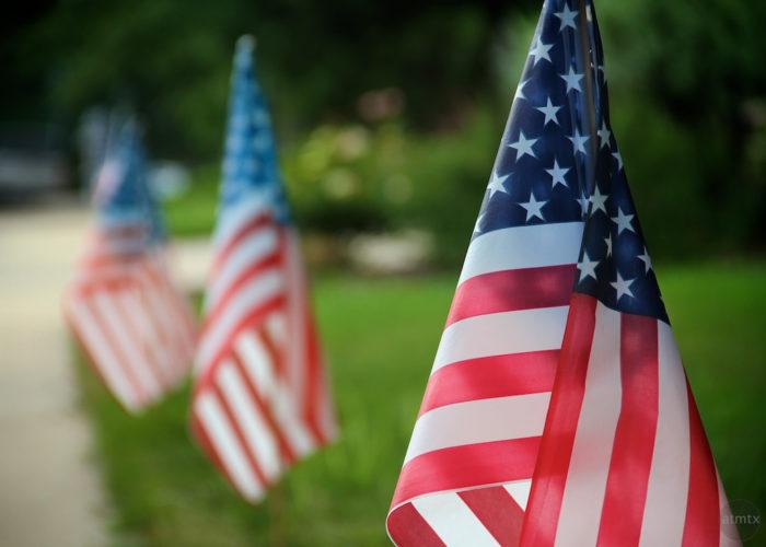 8. You'll find flags everywhere in Utah in July!