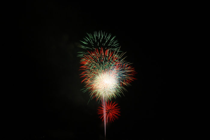 8. Annual Fireworks at Dusk, Alpine Village Shoppes, Helen: July 4th, 2016, 9pm