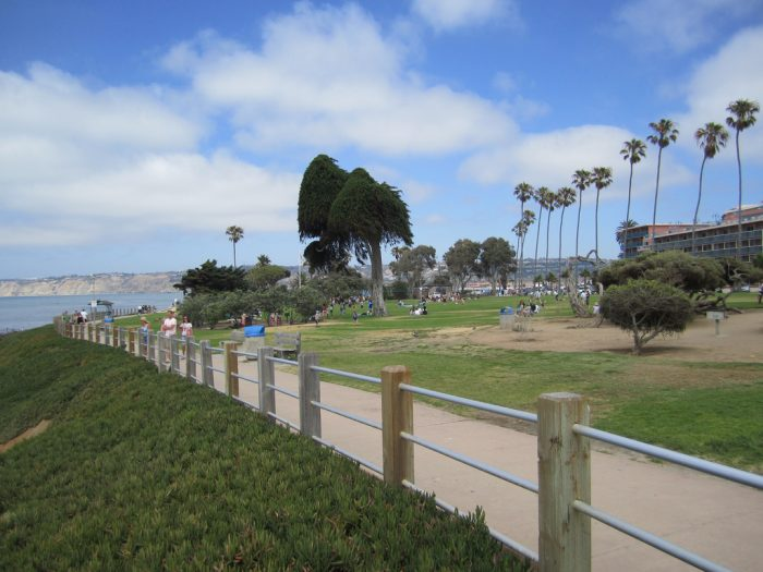3. A stroll along the promenade at Scripps Park in La Jolla is a romantic spot any time of day.