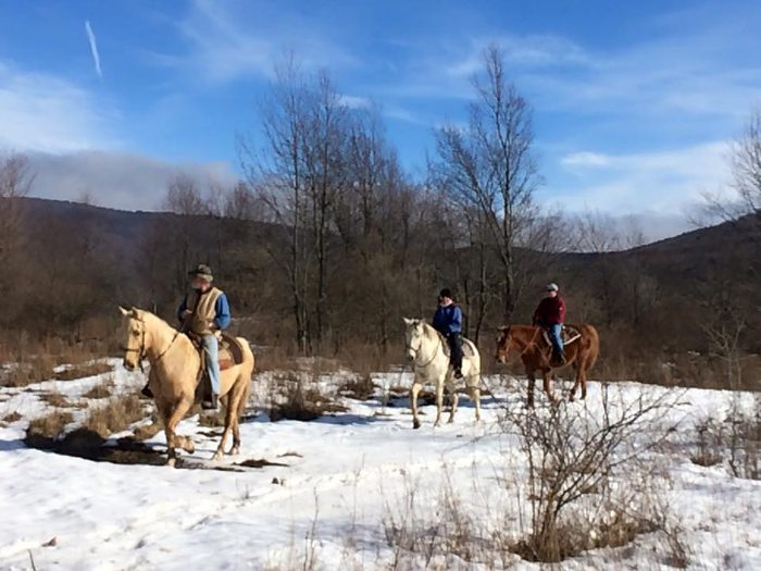 The trails are open in all seasons, weather permitting.