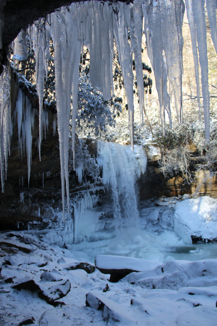 Stop by Ohiopyle State Park next winter for a stunning look at the frozen Cucumber Falls. Give in to your inner child and play in the snow near the falls to add some excitement to your visit.