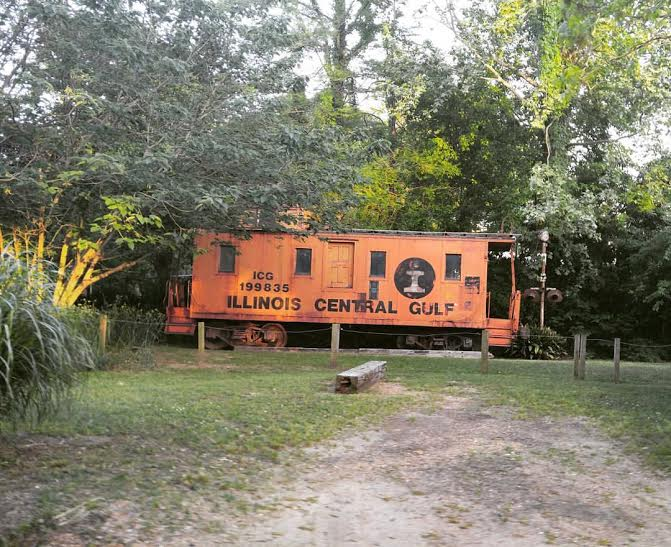 Remnants of the past can be found all over Raymond. One example is the old Illinois Central Gulf caboose that is on display behind the depot.