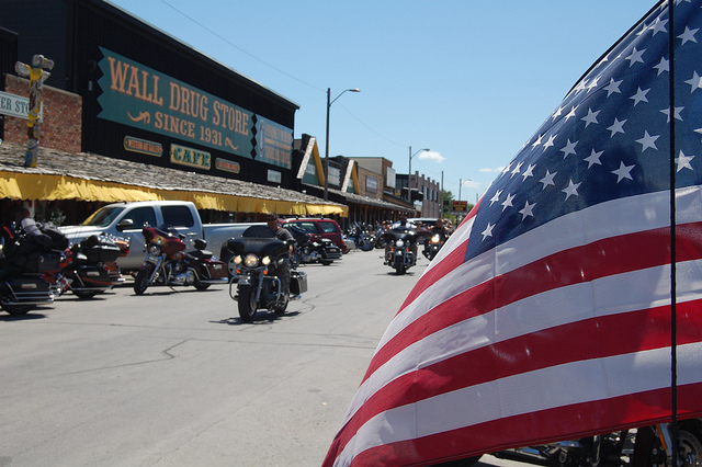 1. We proudly display American flags anywhere and everywhere we can. From the back of our motorcycles to in front of our houses, it's clear we love our country.