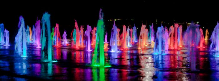 3. Catch the  water and light show at Auditorium Shores after sunset.