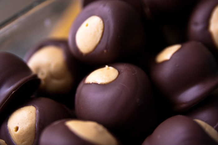 14. Try your hand at making candy buckeyes. (Then bum some off of your grandma and/or other relatives or friends the next time they make them because they know what they're doing.)