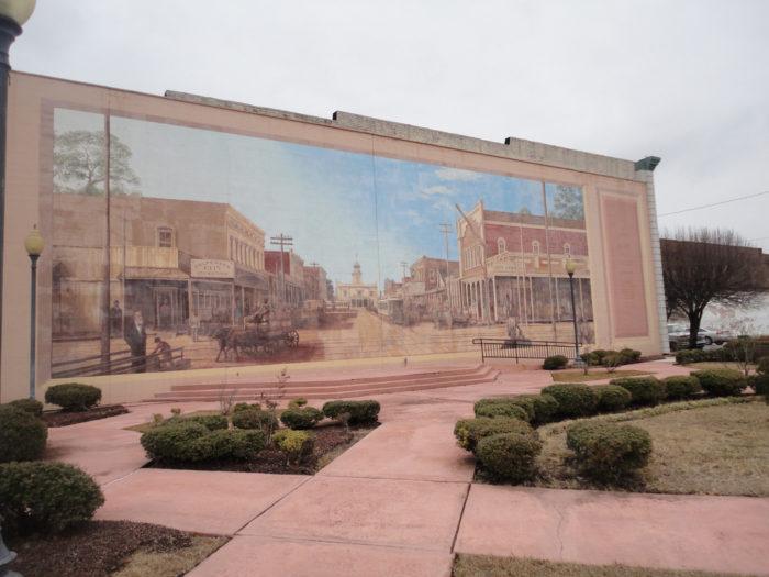 18.Pine Bluff is a city of murals.