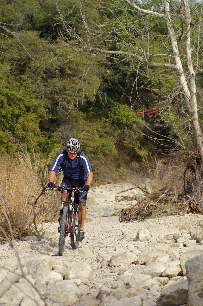 5. Go mountain biking at the Greenbelt - It can get rocky, so don't forget to wear a helmet!