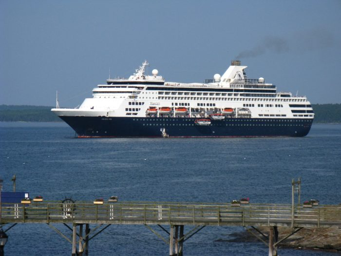 7. The Old Port or Bar Harbor on a cruise ship day.