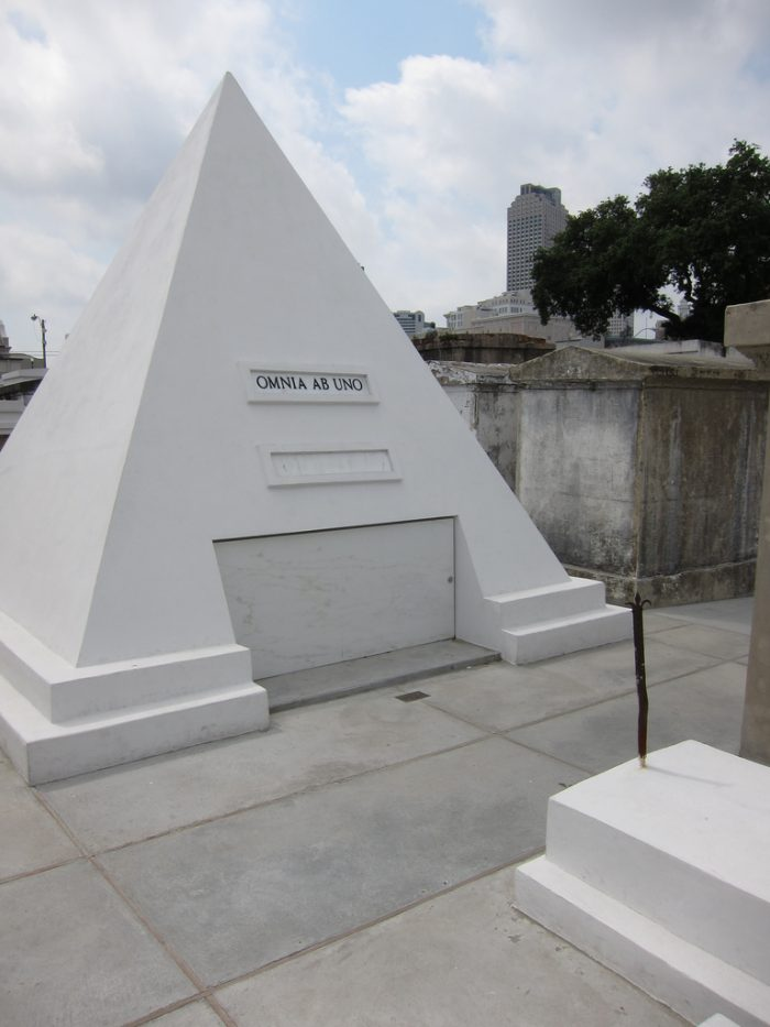 9. There was that movie star who built a strange pyramid tomb.