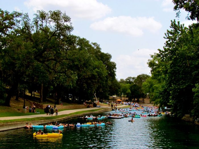 ...or a slower, more leisurely float like the Comal or San Marcos.