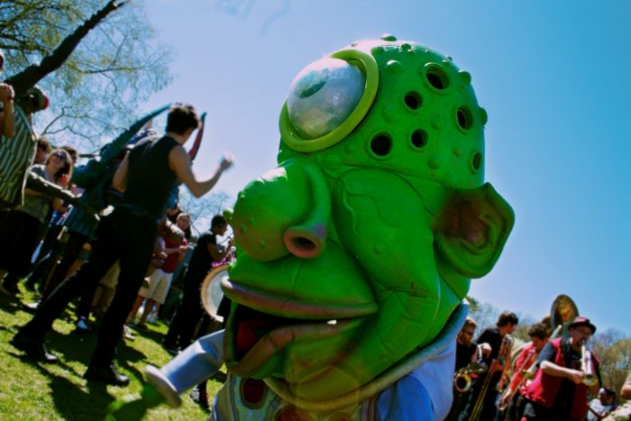 8. Spring Fest at Brandeis University in Waltham can draw some pretty exotic guests.