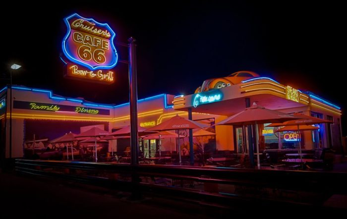 12. Get a bite to eat at one of the Route 66 themed restaurants located around town, such as Cruiser's Route 66 Cafe.