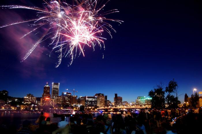 8. Portland Blues Festival and Firework Displays