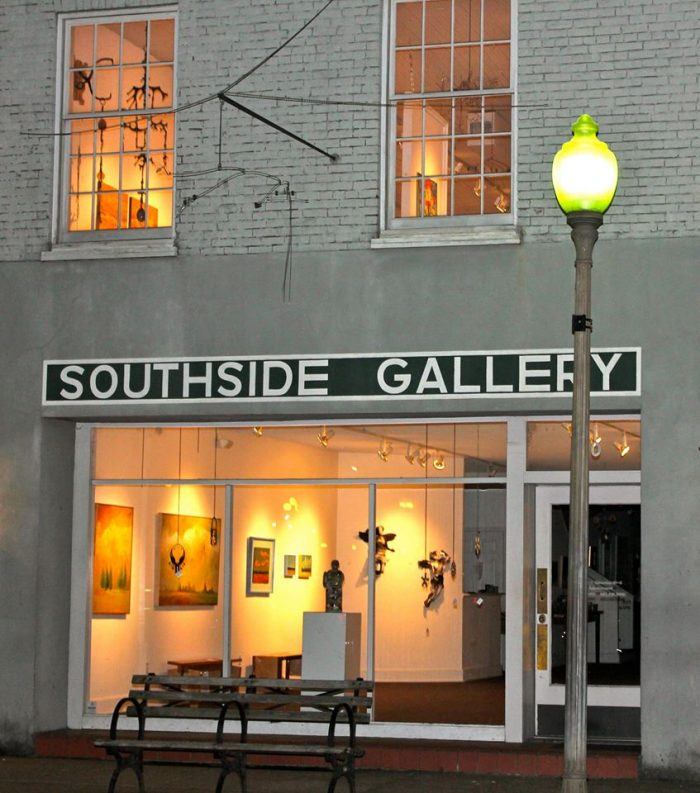 The Square is also home to Southside Gallery. Committed to promoting the arts, the gallery showcases the works of regional, national, and international artists in addition to hosting lectures and receptions.