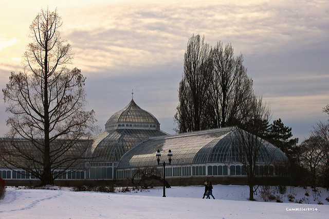 Phipps Conseratory and Botanical Gardens in Schenley Park welcomes visitors daily.
